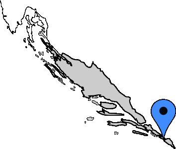 Dalmatia - map
