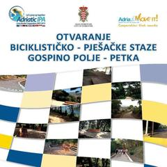 Opening of the new recreational pedestrian-bike path in Dubrovnik