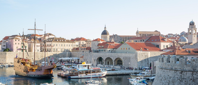 Dubrovnik Old Port with Karaka Ship