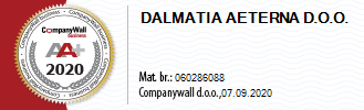 Dalmatia Aeterna Creditworthiness Certificate 2020